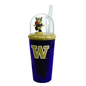 Pack of 2 NCAA Washington Huskies Animated Mascot Children's Drinking Cups