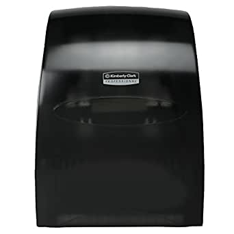Sanitouch High Capacity Hard Roll Paper Hand Towel Dispenser (09996), Touch-Free Manual, Smoke / Black