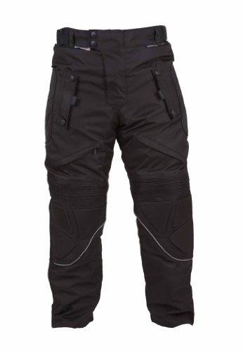 TMW imperméable noir Moto Cordura Pantalons Avec armure