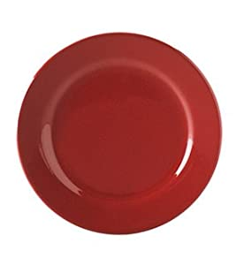 Waechtersbach Cherry Red Rimmed Dinner Plate