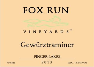 2013 Fox Run Vineyards Gewurztraminer 750 Ml
