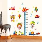 DIY Fashion Self Adhesive PVC Removable Wall Stickers / House Interior Decoration Pictures --3D Cartoon Graffiti Height Ruler, Size: 70cm x 50cm