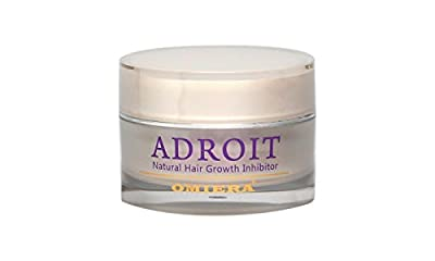 Omiera Labs Adroit Facial Hair Growth Inhibitor Cream. Prevents Breakouts, Ingrown Hair, Razor Burns & Redness After Waxing, Shaving And Hair Removal 1.0 fl. oz