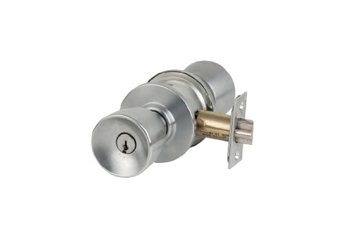 Schlage A10S ORB 626 Series A Grade 2 Cylindrical Lock Keyless Satin Chrome Finish Orbit Design Passage Function
