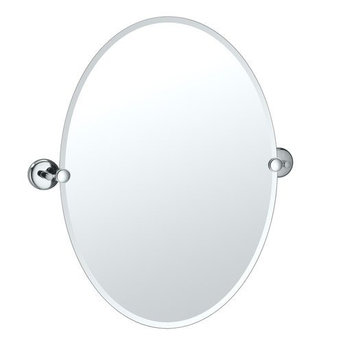 Gatco 5159 Vogue 19-1/2 Inch Oval Beveled Tilting Wall Mirror, Chrome front-639360