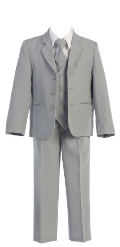 Today Toddlers Oxford 5 Piece Suit in 6 Colors Boys Formal Wear Color: Grey Boys Formal Wear Size: Size 4
