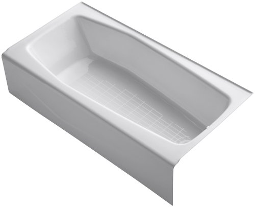 New KOHLER K-716-0 Villager Bath with Right-Hand Drain, White