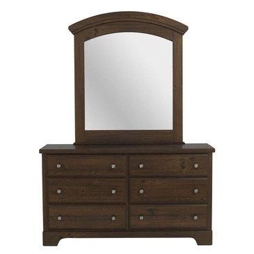 Standard Furniture Parker 6 Drawer Dresser W/ Mirror In Golden Brown Cherry front-505337