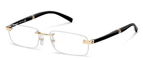 mont blanc mb 9101 v eyeglasses 9101v black gold e69