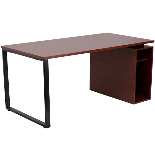 Flash Furniture Computer Desk  Open Storage Pedestal,