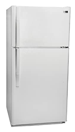 Haier RRTG21PABW 20.7 Cubic Foot Top Mount Refrigerator, White