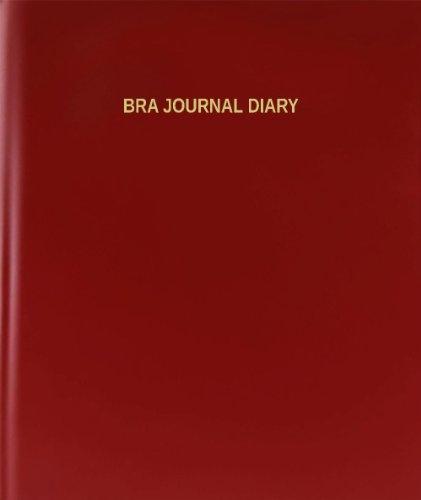 BookFactory® Bra Journal Diary - 120 Page, 8.5
