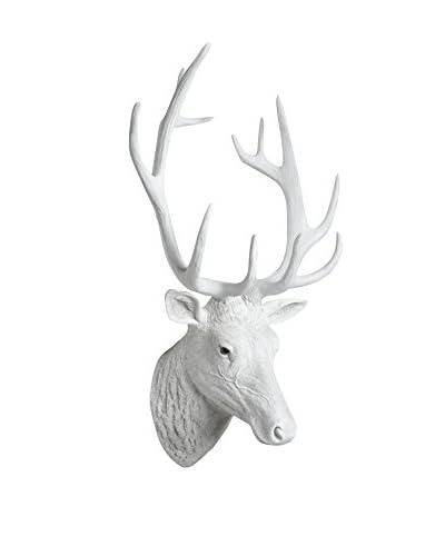 Interior Illusions Deer Head, White