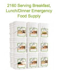 Emergency Reserve-2160 Serving Breakfast, Lunch/Dinner Emergency Food Supply