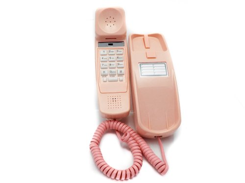 Trimline Phone - Ladies Pink - Durable Retro Novelty Telephone - An Improved Version of the Princess Phones in 1965 - Replica Retro Styling Big Button Phones For Seniors - 30 Day Money Back Guarantee - 3 Year Warranty - Desk or Wall Mountable - Unique...