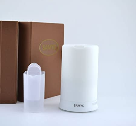 Samyo 100ml Aromatherapy Essential Oil Purifier Diffuser Air Humidifier with 4 Timer Settings & 6 Colors Changing Light