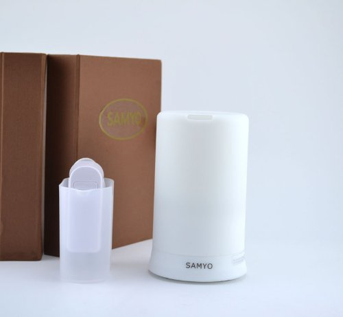 Samyo 100ml Aromatherapy Essential Oil Purifier Diffuser Air Humidifier with 4 Timer Settings & 6 Colors Changing Bright