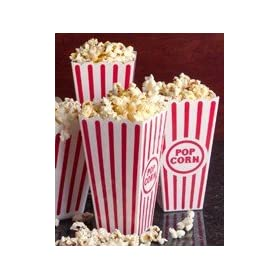 Plastic Popcorn Containers - Set of 4
