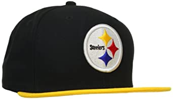 NFL Pittsburgh Steelers Black and Team Color 59Fifty Fitted Cap, Black/Gold, 6 7/8