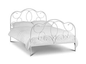 Julian Bowen Arabella White Metal Bed Frame by Elegant Bed Co.