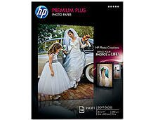 Hewlett Packard Prem Plus 8.5X11 Soft Gloss 50 Sht Photo Paper