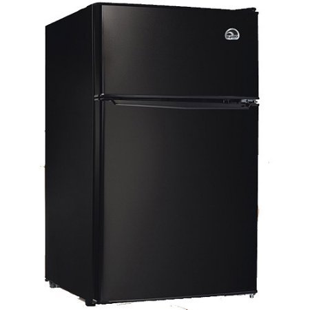 Igloo 3.2 cu. ft. 2-Door Refrigerator and Freezer Adjustable Thermostat | Slide-Out Shelves, Black (Fridge Lock With Timer compare prices)