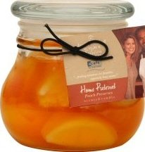 Kathy Ireland Acafe Society By Hanna's Home Preserves Peach Candle