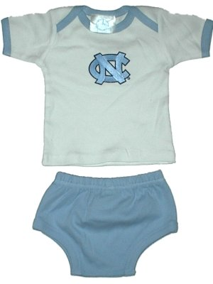 Ncaa College Newborn Baby Diaper Sets Made In The Usa (0-6 Months, North Carolina Tar Heels)