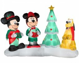 Mickey And Minnie Musical Christmas Decoration