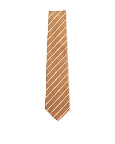Kiton Men's Diagonal Striped Tie, Brown/Orange