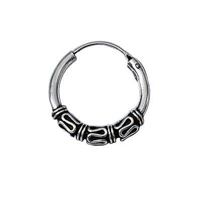 Sterling Silver 16 mm Celtic Knot Creole Hoop Earrings