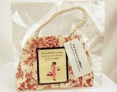 """Pin-Up Girl """"Shes Seen Paris..."""" Poochie Purse with Dog Toys"""