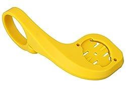 J L Bicycle Computer Mount-fit for Garmin Edge 200 500 800 510 810 Bryton MIO-31.8 Yellow
