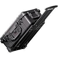 Pelican 1510 Carry On Watertight Hard Case without Foam Insert, with Wheels. - Charcoal Black