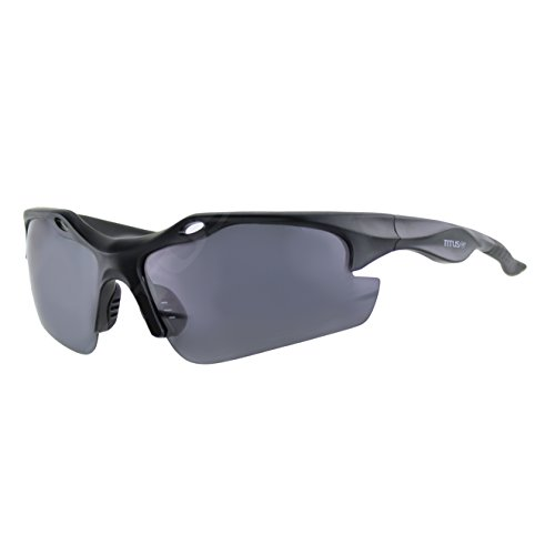Titus G18 Polarized MotoSport Dark Smoke Sunglasses - Sports Riders Safety Glasses (Standard, Standard) (Ga Bulldogs Sunglasses compare prices)