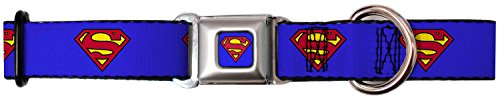superman-seatbelt-buckle-adjustable-dog-collar-size-large-fits-15-26-neck-by-buckle-down