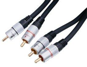 HQ Doppelt geschirmtes Stereo Cinch-Kabel 20 m
