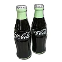 Coca-Cola Ceramic Salt & Pepper Shakers - Shaped Like Coke Bottles