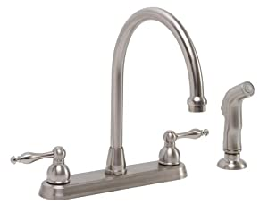 Premier 119262 wellington lead free two handle kitchen for Kitchen faucet recommendations