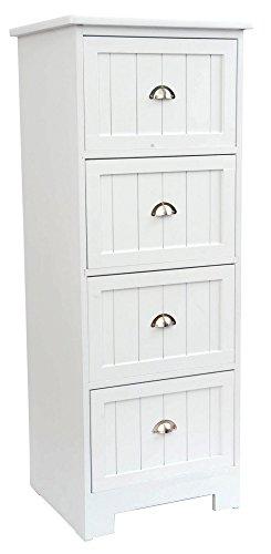 Kommode-mit-4-Schubladen-mit-Metallgriffen-Holzplatten-Farbe-WEI