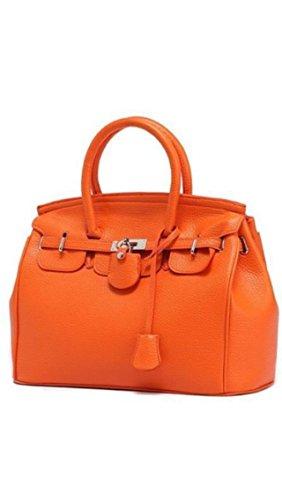 Maison De Decoration©Sac à main orange d'emballage de clef de cadenas de cuir de vache à Hobo de la nouvelle conception des femmes (orange)