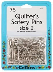 Dritz Quilter's Safety Pins Size 2 75/Pkg C132; 3 Items/Order