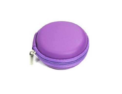bluecell-purple-color-pu-leather-earphone-hard-case-bag