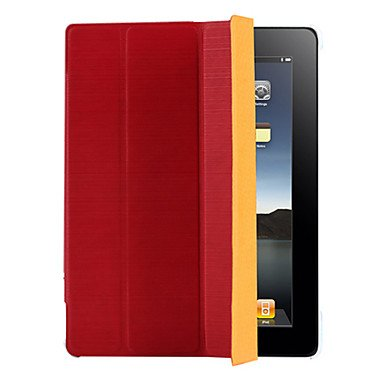 Zcl Xiangyun Drawing Lines Protector 4 Folded Cover Pu Leather Case For Ipad2/3/4