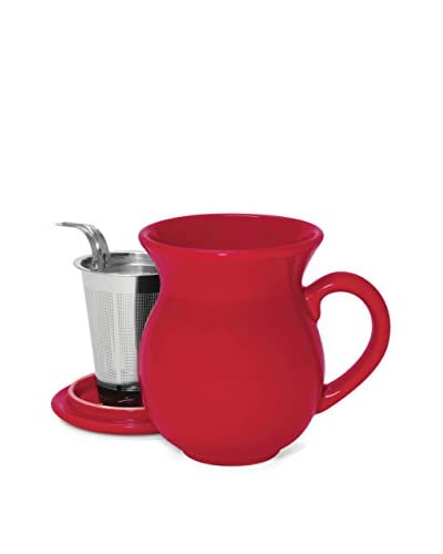 Chantal 15-Oz. Tea Mug with Stainless Steel Infuser, True Red