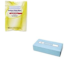 KITBWK346WBWK6500 - Value Kit - Boardwalk Furniture Polish Wipes (BWK346W) and Boardwalk 6500 Two-Ply Facial Tissue (BWK6500)