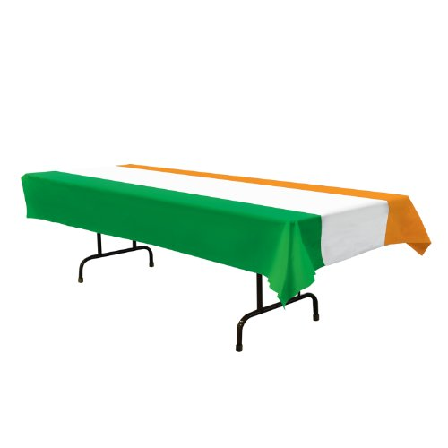 Irish Tablecover (green, white, orange) Party Accessory  (1 count) (1/Pkg)