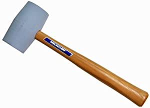 """18 oz. Non-Marring Rubber Mallet with 10.5"""" Hickory Handle"""