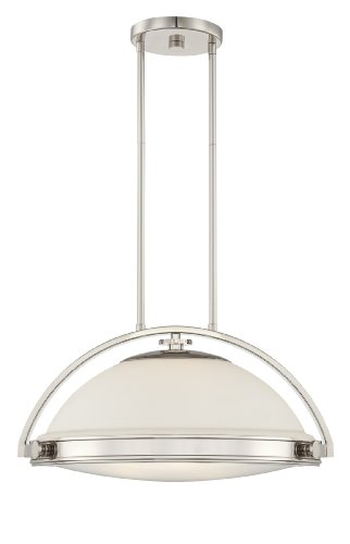 Quoizel UPFT1820IS Uptown Fulton 3 Light Contemporary Rod Hung Pendant Light with 18-Inch Shade