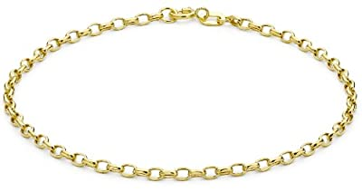 Carissima 9ct Yellow Gold Diamond Cut Link Bracelet 19cm/7.5""